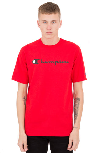 (PRE ORDER) Champion Heritage Script Tee (Team Red Scarlet)(NO CASH ON DELIVERY - ALL ORDERS MUST BE PAID FULL IN ADVANCE)