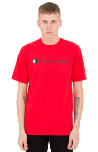 Champion Heritage Script Tee (Team Red Scarlet)