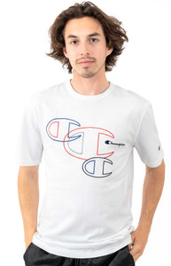 "Champion Heritage Embroidered ""C"" Outlines Tee (White)"