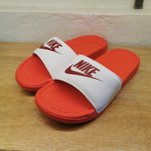 Women's Nike Benassi JDI Slides (Track Red/Noble Red/White)(343881-617)