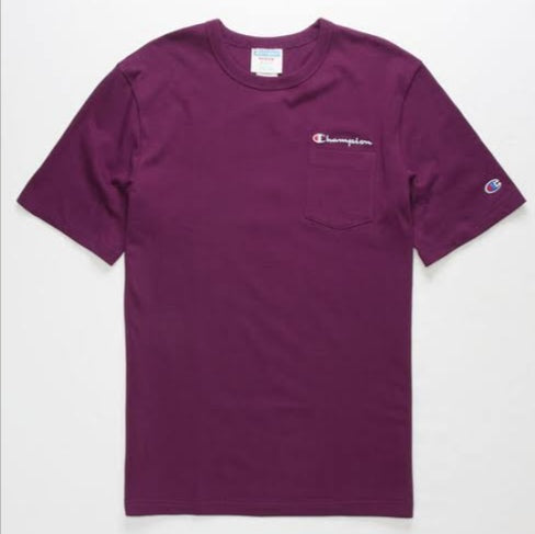 Champion Heritage Pocket Tee (Venetian Purple)