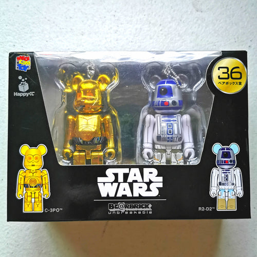 BE@RBRICK x Disney Star Wars 2-PACK no. 36 C-3PO & R2-D2 (100%)