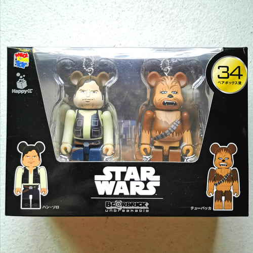 BE@RBRICK x Disney Star Wars 2-PACK no. 34 Han Solo & Chewbacca (100%)
