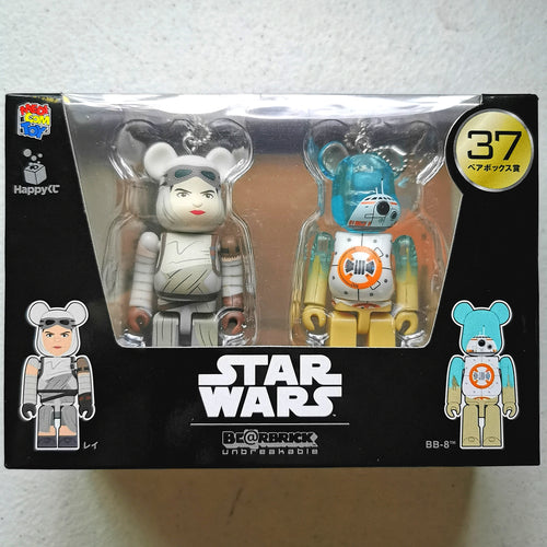 BE@RBRICK x Disney Star Wars 2-PACK no. 37 Rey & BB-8 (100%)