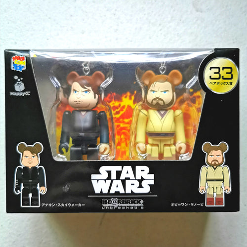 BE@RBRICK x Disney Star Wars 2-PACK no. 33 Anakin Skywalker & Obi-Wan Kenobi (100%)