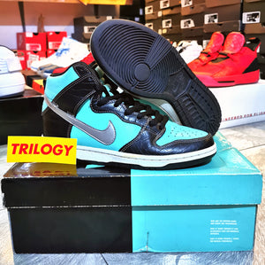 "(Pre-owned) Men's Nike Dunk SB High Diamond Supply Co. ""Tiffany"" (Aqua/Chrome Black)(653599-400)"