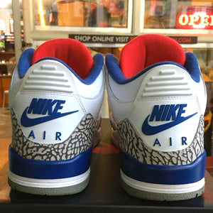 "(Pre-owned) Men's Air Jordan 3 Retro OG ""True Blue"" 2016 (White/True Blue/University Red)(854262-106)"