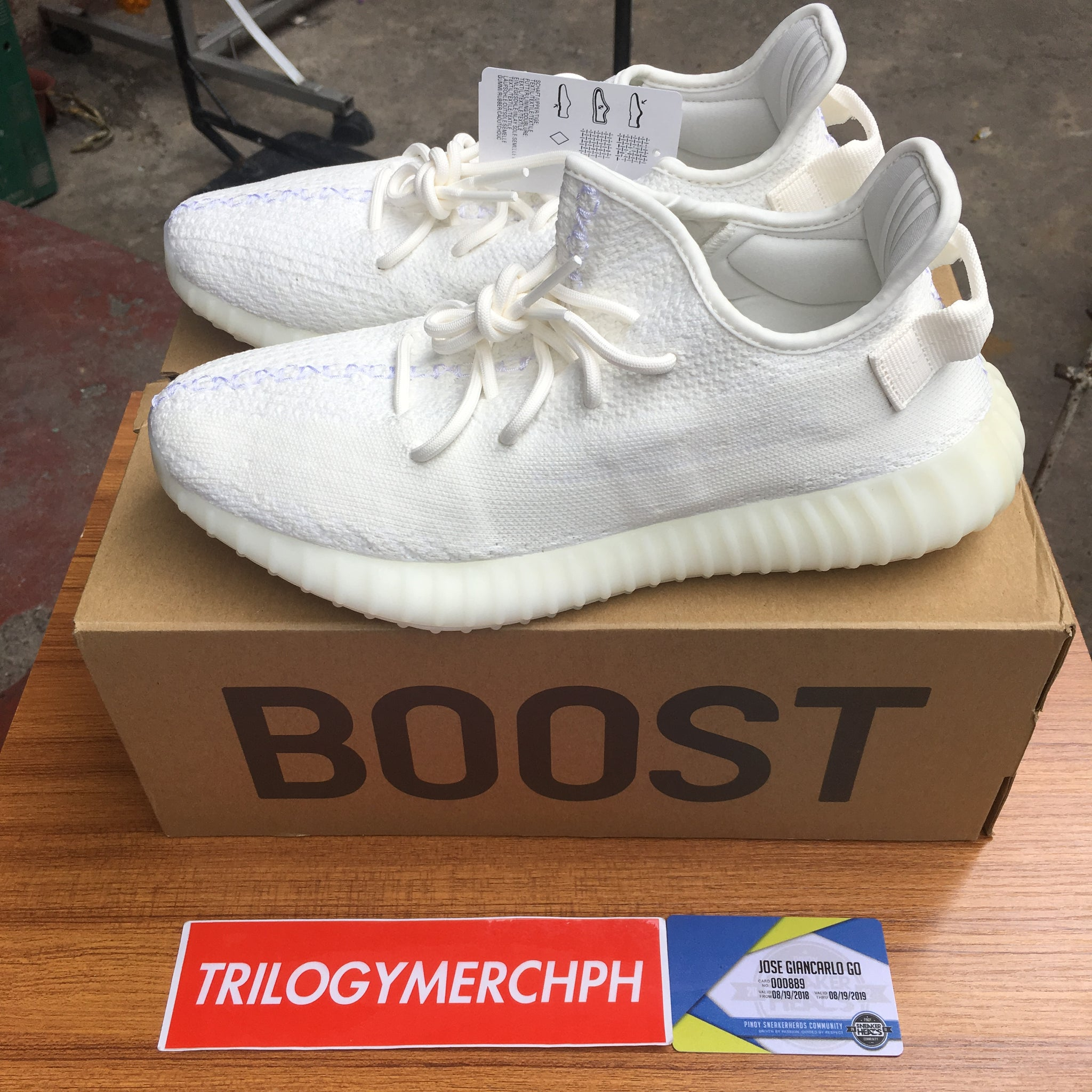 new styles 57001 7bc77 ADIDAS YEEZY Boost 350 V2 (Cream / Triple White)