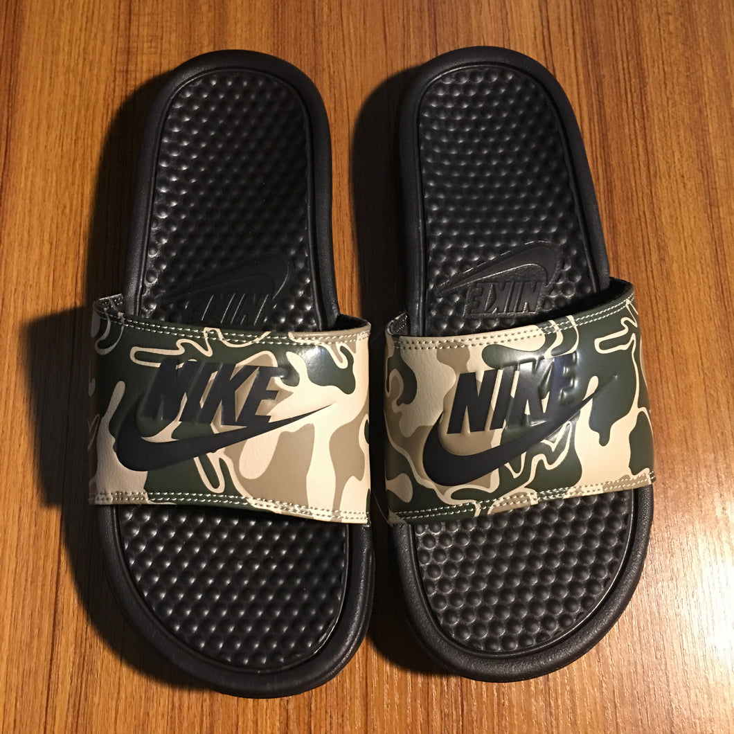 Nike Benassi JDI Print (Brown Velvet Camo)(no box)