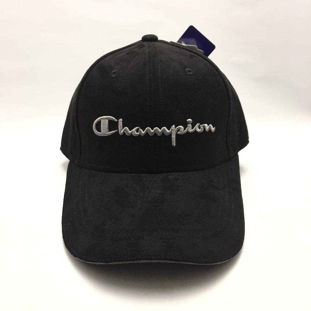 Champion Suede Twill Cap (Black)(Limited Edition)