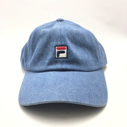 FILA 'F' Logo Denim Cap (Blue)