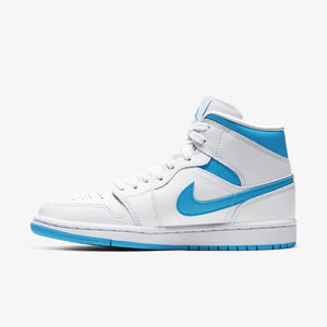 "Women's Air Jordan 1 Mid ""UNC"" (White/Carolina Blue)(BQ6472-114)"