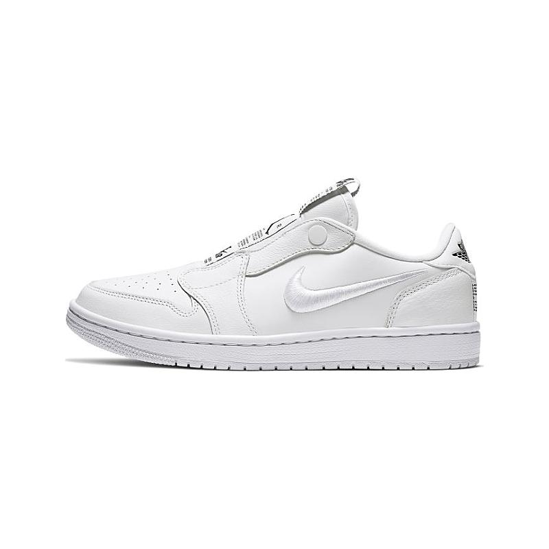 Women's Air Jordan 1 Retro Low Slip On (White Black White)