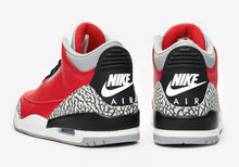 "GS Air Jordan 3 Retro SE ""Red Cement"" (Fire Red/Cement Grey/Black)(CQ0488-600)"
