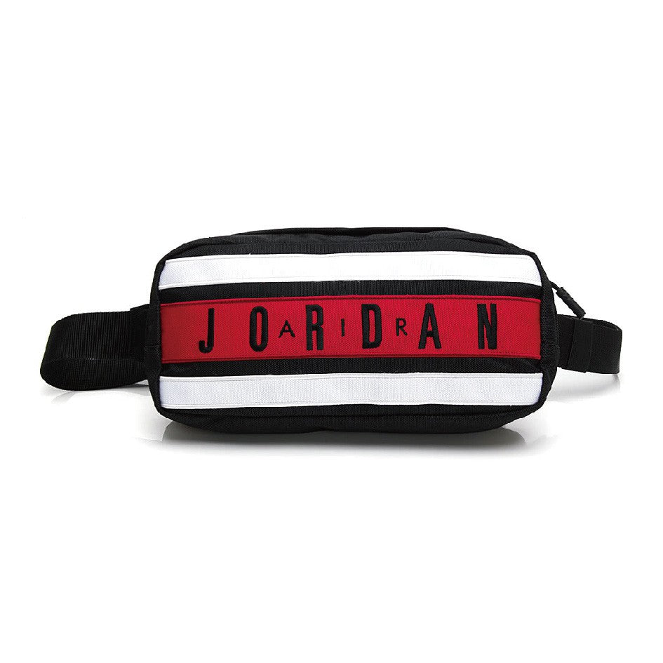 Air Jordan Taped Crossbody Bag Fanny Pack (Black/Gym Red)(9A0300-KR5)