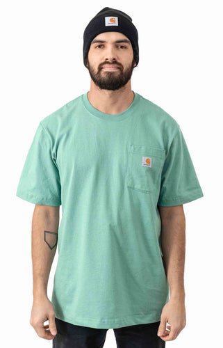 (PRE ORDER)Carhartt K87 Workwear Pocket T-Shirt (Botanic Green)(Oversized fit)(NO CASH ON DELIVERY - ALL ORDERS MUST BE PAID FULL IN ADVANCE)