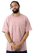 Carhartt K87 Workwear Pocket T-Shirt (Dark Barn Red Heather)