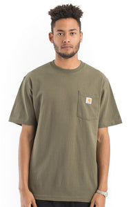 Carhartt K87 Workwear Pocket T-Shirt (Army Green)(Oversized fit)