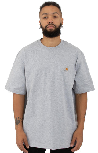 (PRE ORDER) Carhartt K87 Workwear Pocket T-Shirt (Heather Grey)(Oversized fit)(NO CASH ON DELIVERY - ALL ORDERS MUST BE PAID FULL IN ADVANCE)