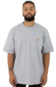 Carhartt K87 Workwear Pocket T-Shirt (Heather Grey)(Oversized fit)