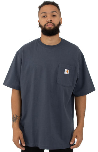 (PRE ORDER)Carhartt K87 Workwear Pocket T-Shirt (Navy)(Oversized fit)(NO CASH ON DELIVERY - ALL ORDERS MUST BE PAID FULL IN ADVANCE)