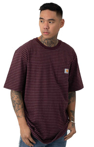 Carhartt K87 Workwear Pocket T-Shirt (Port Stripe)(Oversized fit)