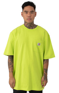Carhartt K87 Workwear Pocket T-Shirt (Sour Apple)(Oversized fit)
