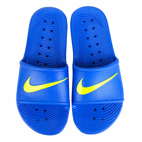 Men's Nike Kawa Shower Slides (Game Royal / Volt)(832528-404)