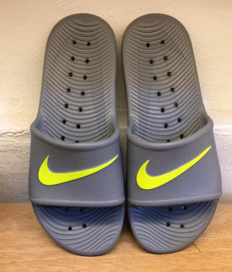 Nike Kawa Shower Slides (Cool Grey/Volt)