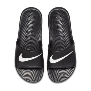 Men's Nike Kawa Shower Slides (Black/White)(832528-001)