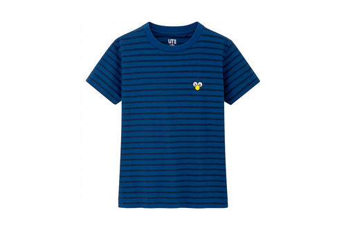 Kids KAWS x Uniqlo Striped Tee (Blue)