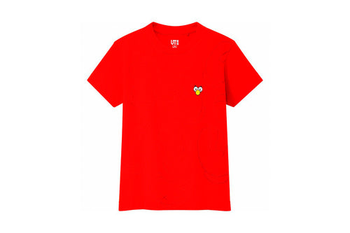 Kids KAWS x Uniqlo All Over BFF Tee (Red Orange)