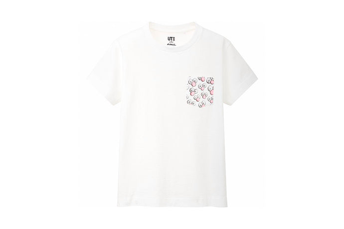 Kids KAWS x Uniqlo Pocket BFF Tee (White)