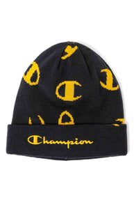 Champion Script Beanie (Navy / C Gold)