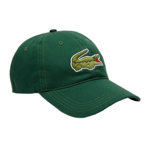 Lacoste Oversized Logo Cotton Strap-back Cap (Green)(RK4711-51-132)