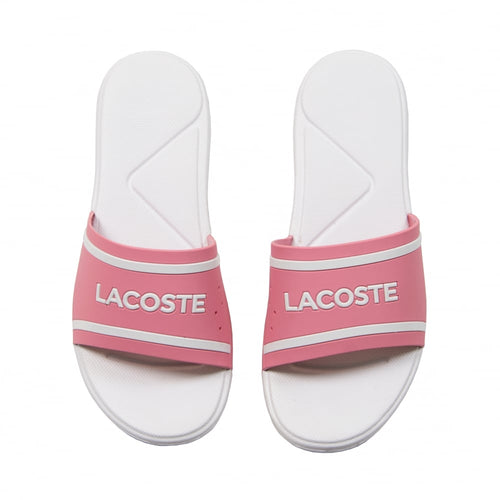 LACOSTE Women's L.30 Rubber Slides (Pink/Off White)(7-38CFA0032PW1)