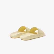 LACOSTE Women's Croco Slides (Light Yellow / White)(7-39CFA0004-241)