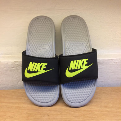 Men's Nike Benassi JDI Slides (Black/Cool Grey/Volt)
