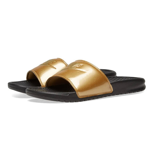 sale retailer b055c 085cd Nike Benassi Just Do It WMNS Black Metallic Gold