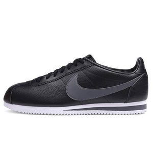 Men's Nike Cortez Classic Leather (Black / Dark Grey Swoosh)