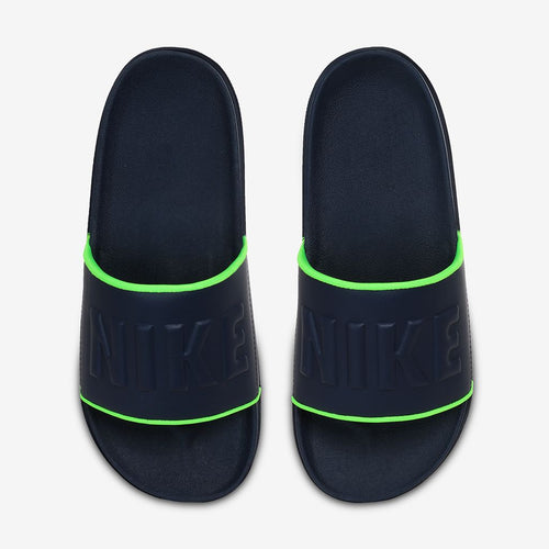 Men's Nike Offcourt Slides (Blackened Blue/Volt)(BQ4639-403)