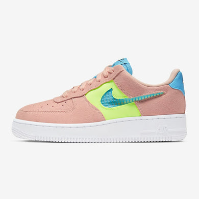 Women's Nike Air Force 1 '07 SE (Washed Coral/Ghost Green/Black/Oracle Aqua)(CJ1647-600)