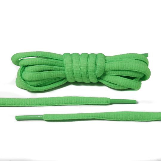 Neon Green Oval Laces