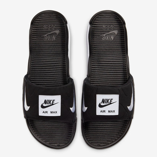 Men's Nike Air Max 90 Slides (Black/White)(BQ4635-002)