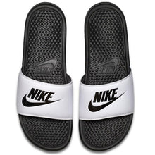 "Nike Benassi ""Just Do It"" White Strap & Black"