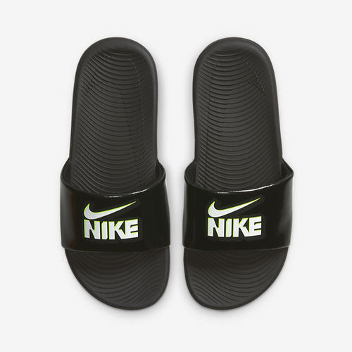 PS/GS Nike Kawa Slide FUN (Black/White/Volt)(DD3242-001)