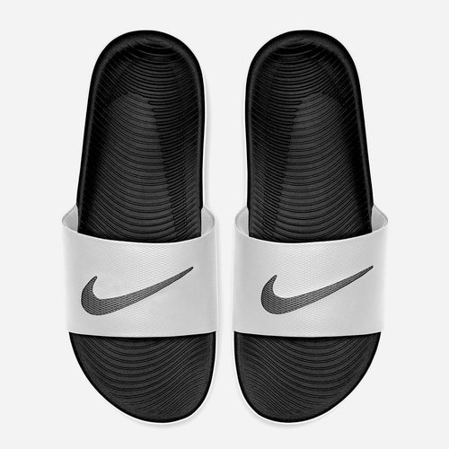 Men's Nike Kawa Solarsoft Slides (White/Black)(832646-100)
