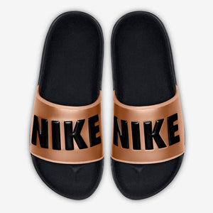 "Women's Nike Offcourt Slides ""Black Metallic Copper"" (BQ4632-800)"