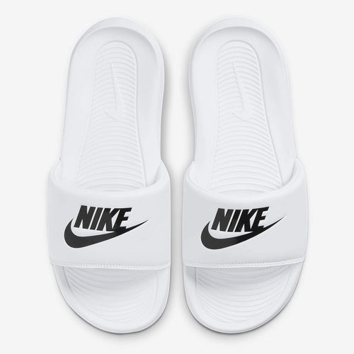 Women's Nike Victori One Slides (White/Black) (CN9677-100)