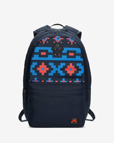 Nike SB Icon Printed Backpack (Dark Obsidian/Pacific Blue/Bright Crimson)(BA6415-475)